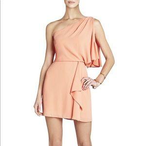 "NWT!! BCBG ""Mina"" orange one shoulder mini dress"
